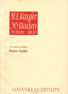 36 Etüden von H.E. Kayser op. 20, Violine
