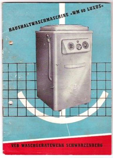 Haushaltswaschmaschine WM 60 luxus, Bedienungsanleitung