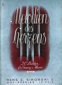 Melodien des Hezens, 20 Lieder für Gesang und Klavier