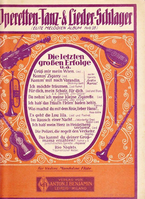 Elite Melodien-Album Heft 28 f. Violine, Mandoline oder Flöte