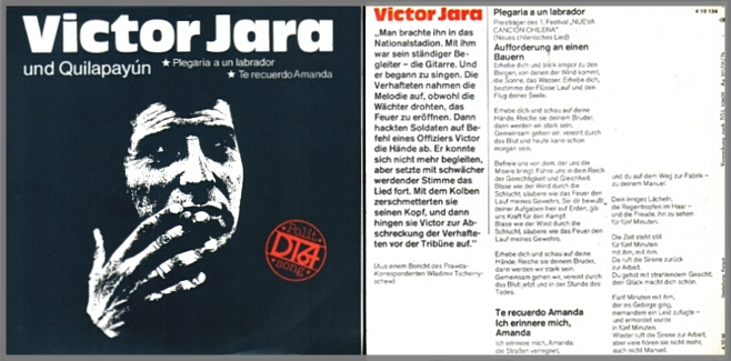 Victor Jara - DT 64-Single-Platte