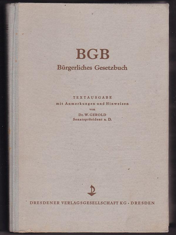 BGB - Bürgerliches Gesetzbuch 1950
