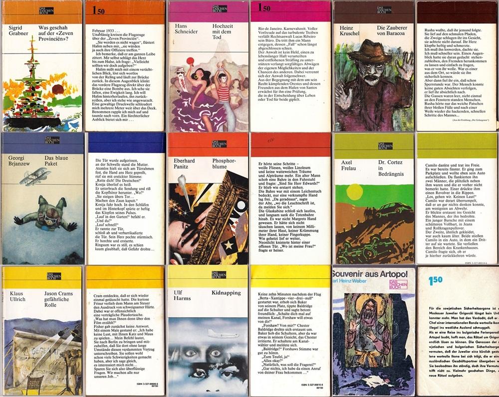 DAS Taschenbuch -  Reihe des Militärverlages d. DDR, 9 Taschenbücher