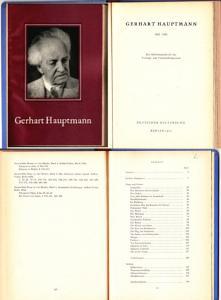 Gerhart Hauptmann, ein Arbeitsmaterial vom Kulturbund der DDR