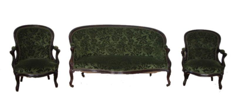 Louis Philippe Französisch Salon Sofa und zwei Sessel, 1830 1850, Frankreich