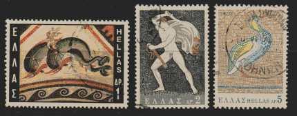 Griechenland Mi 1024 C und 1026 A und 1027 A gestempelt