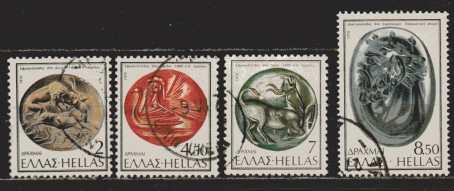 Griechenland Mi 1235 bis 1238 gestempelt
