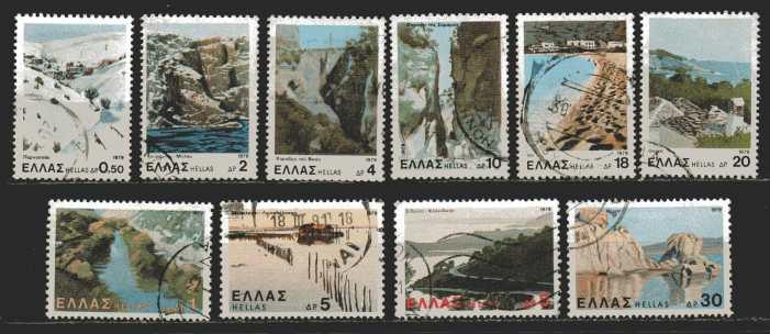 Griechenland Mi 1387 bis 1391 und  1394, 1395 und 1398 bis1400  gestempelt