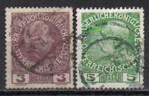 Österreich MiNr. 141 und 142  gestempelt