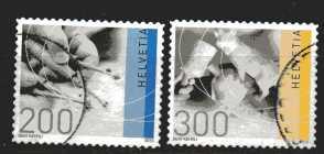Schweiz  Mi 2176 und 2177   gestempelt