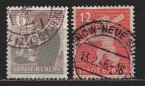 Deutschland SBZ   MiNr. 2 A und 5 A  gestempelt