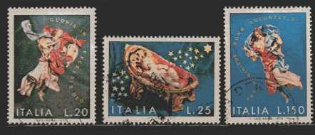 Italien  MiNr. 1380 bis 1382  gestempelt
