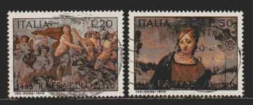 Italien  MiNr. 1305 und 1306  gestempelt