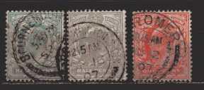 Großbritannien  MiNr. 102 A bis 104 A  gestempelt