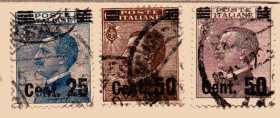Italien  MiNr. 170 bis 172  gestempelt