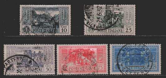 Italien  MiNr. 391, 393, 395, 396 und 397   gestempelt