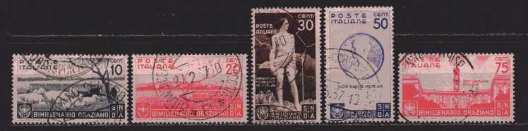 Italien  MiNr. 547  bis 551   gestempelt