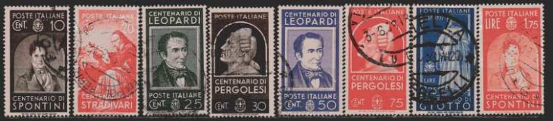 Italien  MiNr. 591 bis 598  gestempelt