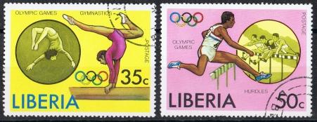 Liberia  MiNr. 994 A und 995 A   gestempelt