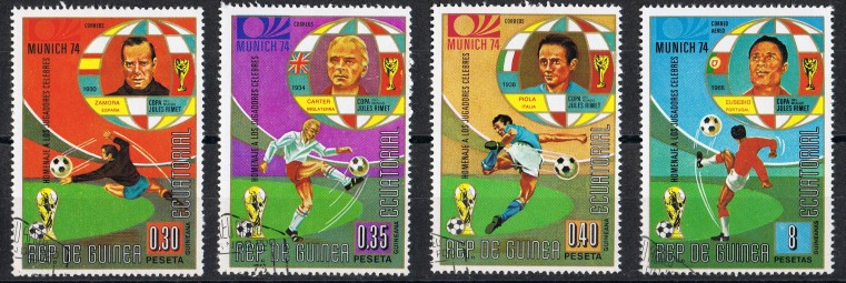 Guinea Ecuatorial  MiNr.  307,308,309 und  314   gestempelt
