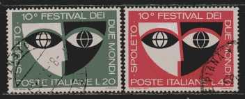Italien  MiNr. 1235 und 1236  gestempelt