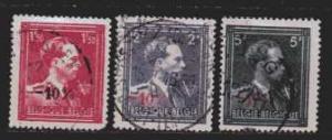 Belgien MiNr. 748 bis 750  gestempelt
