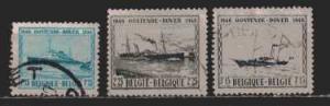 Belgien MiNr. 755 bis 757  gestempelt