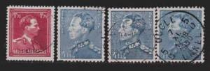 Belgien MiNr. 874 und 875 mit Varianten  gestempelt