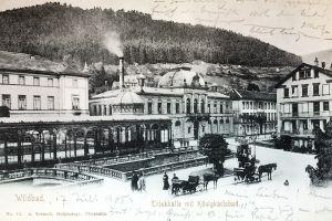 AK Wildbad Trinkhalle mit Königsbad