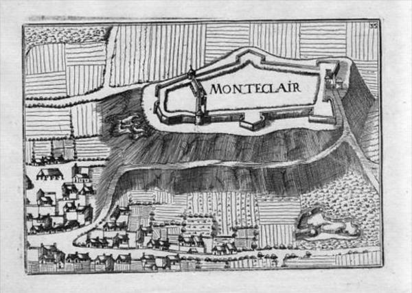 Montéclair Andelot-Blancheville Haute-Marne map carte Kupferstich gravure