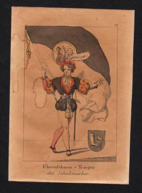 Schuhmacher Schuster Schuhe Original Lithographie lithography