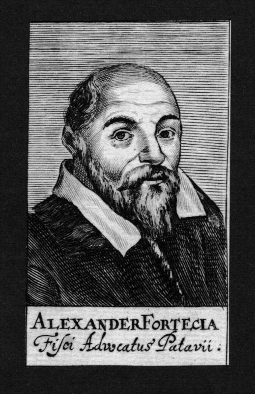 Alexander Fortecia Jurist lawyer Professor Italien Kupferstich Portrait