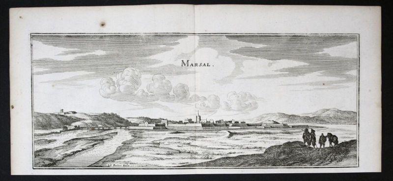 Marsal Moselle Lorraine Lothringen gravure estampe Kupferstich Merian
