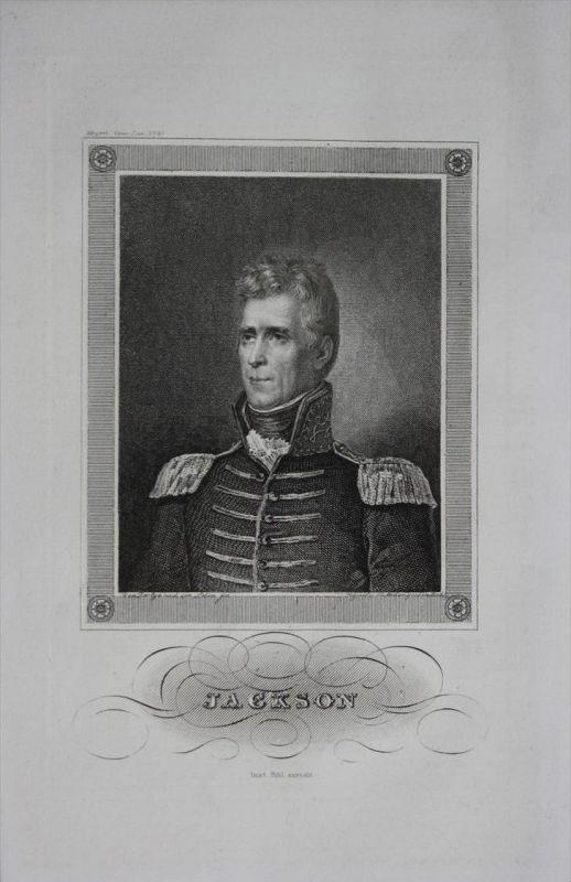 Jackson General Militär Frankreich France engraving Stahlstich Portrait