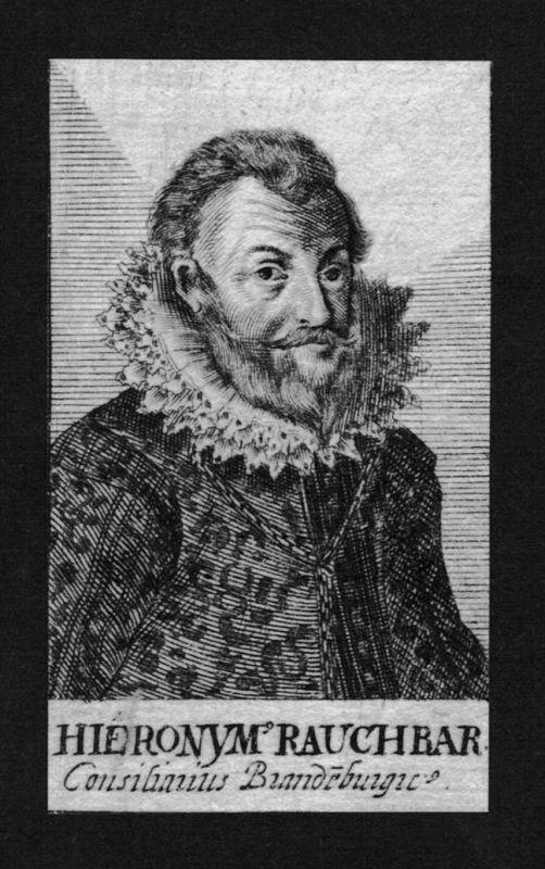 Hieronymus Rauchbar Jurist lawyer Brandenburg  Kupferstich Portrait