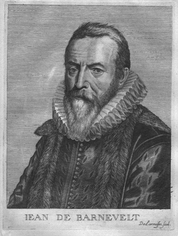 Johan van Oldenbarnevelt Holland Portrait Kupferstich engraving gravure