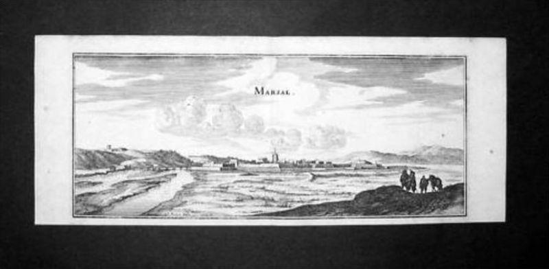 Marsal Moselle Lorraine gravure estampe vue Kupferstich Merian