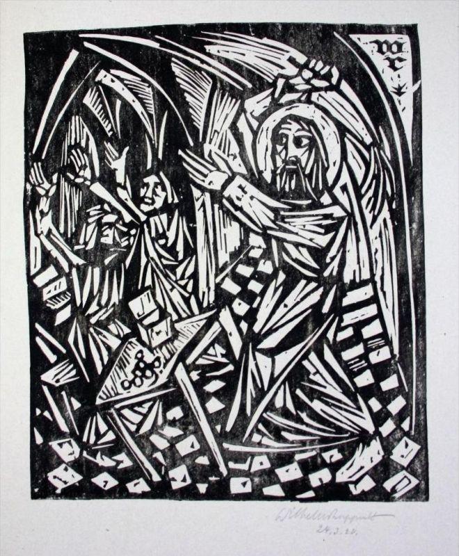 Bibel Biblia Wilhelm Rupprecht Fürstenfeldbruck Reibdruck signiert