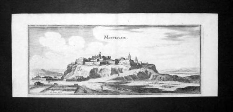 Monteclair Andelot-Blancheville Haute-Marne gravure Kupferstich Merian