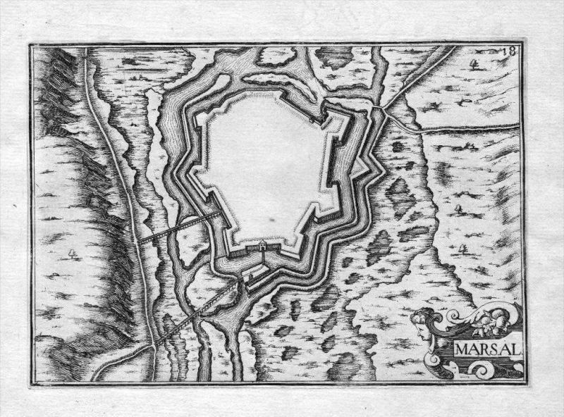 Marsal Moselle Chateau-Salins Lorraine France Kupferstich Tassin