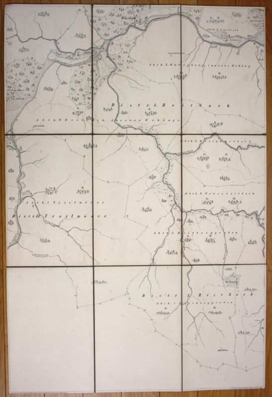 Reitbach Traxlmöser Glashütte Flurkarte LK Miesbach Karte