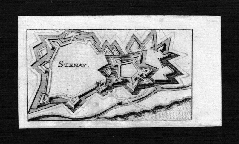 Stenay Meuse Lorraine Frankreich France gravure Kupferstich Riegel