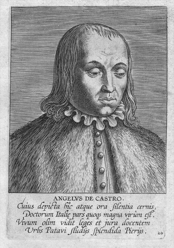 Angelus de Castro Jurist Italia Kupferstich engraving Portrait
