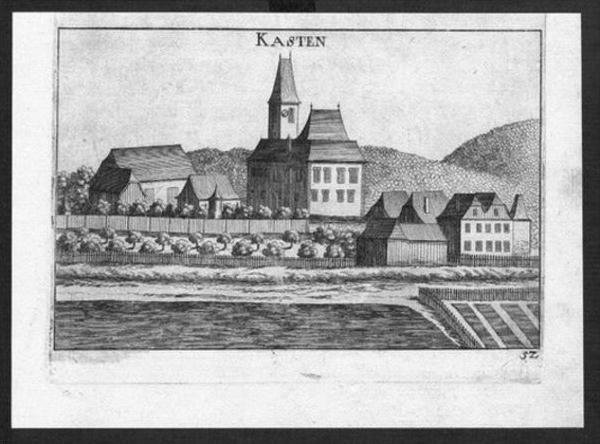 Kasten bei Böheimkirchen Kupferstich Vischer engraving