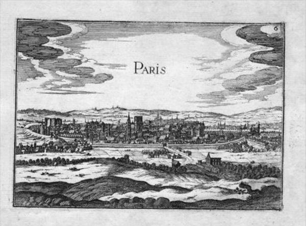Paris Gravure Estampe France Tassin map carte Kupferstich gravure view