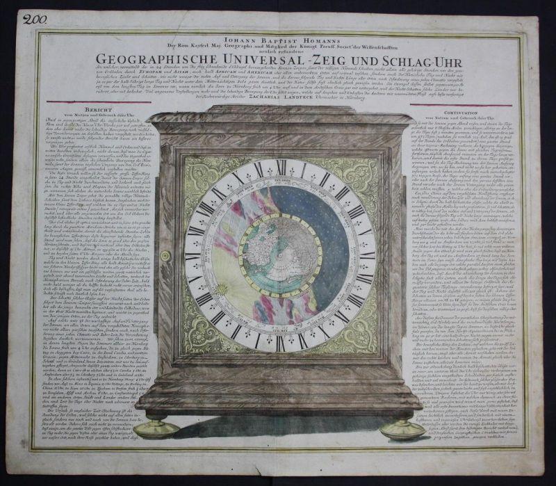 traveling clock clocks World Map America geography California island Homann