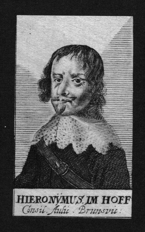 Hieronymus Imhoff Jurist lawyer Rat Braunschweig Kupferstich Portrait