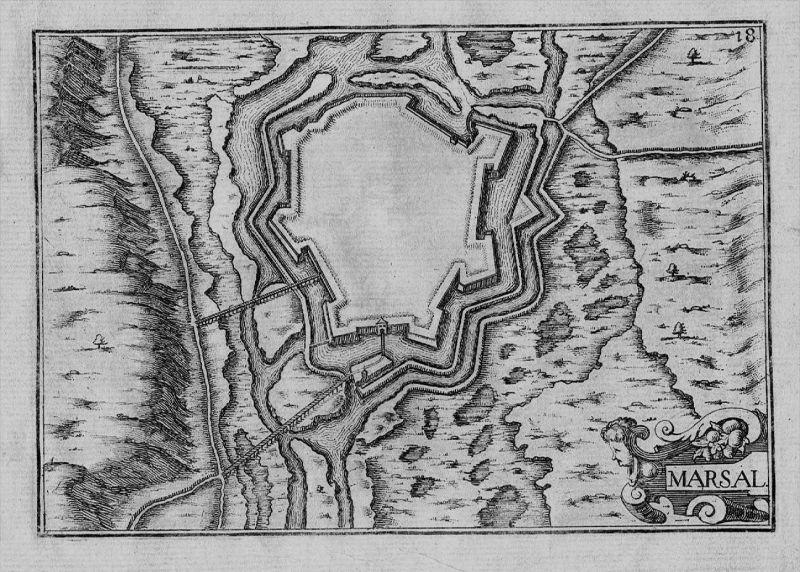 Marsal Moselle Lorraine Lothringen carte gravure Kupferstich Tassin