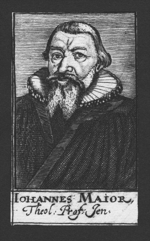 Johannes Major Theologe Weimar Stettin Jena Hof Kupferstich Portrait