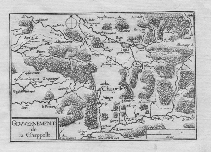 La Capelle Aisne Seine-et-Marne Frankreich gravure Kupferstich Tassin